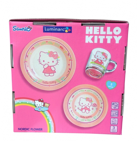 Детский набор Hello Kitty Flower 3 пр. картон